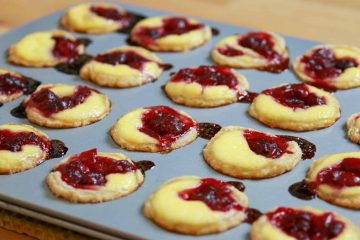 cranberry yogurt custard tartlets