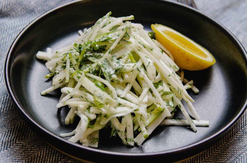 Kohlrabi and Apple Salad with Fresh Dill