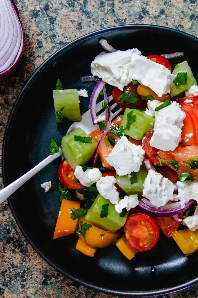 Simple Bulgarian Recipe - Shopska Salad