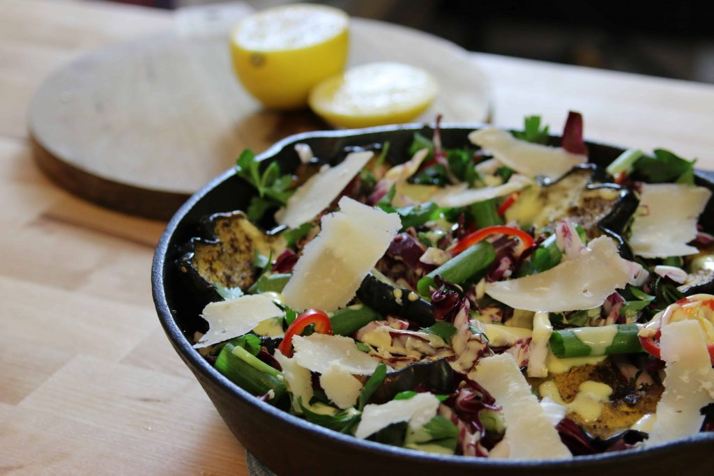 skillet salad is a warm salad with hearty vegetables