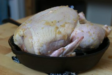 Dry brined chicken ready for the oven