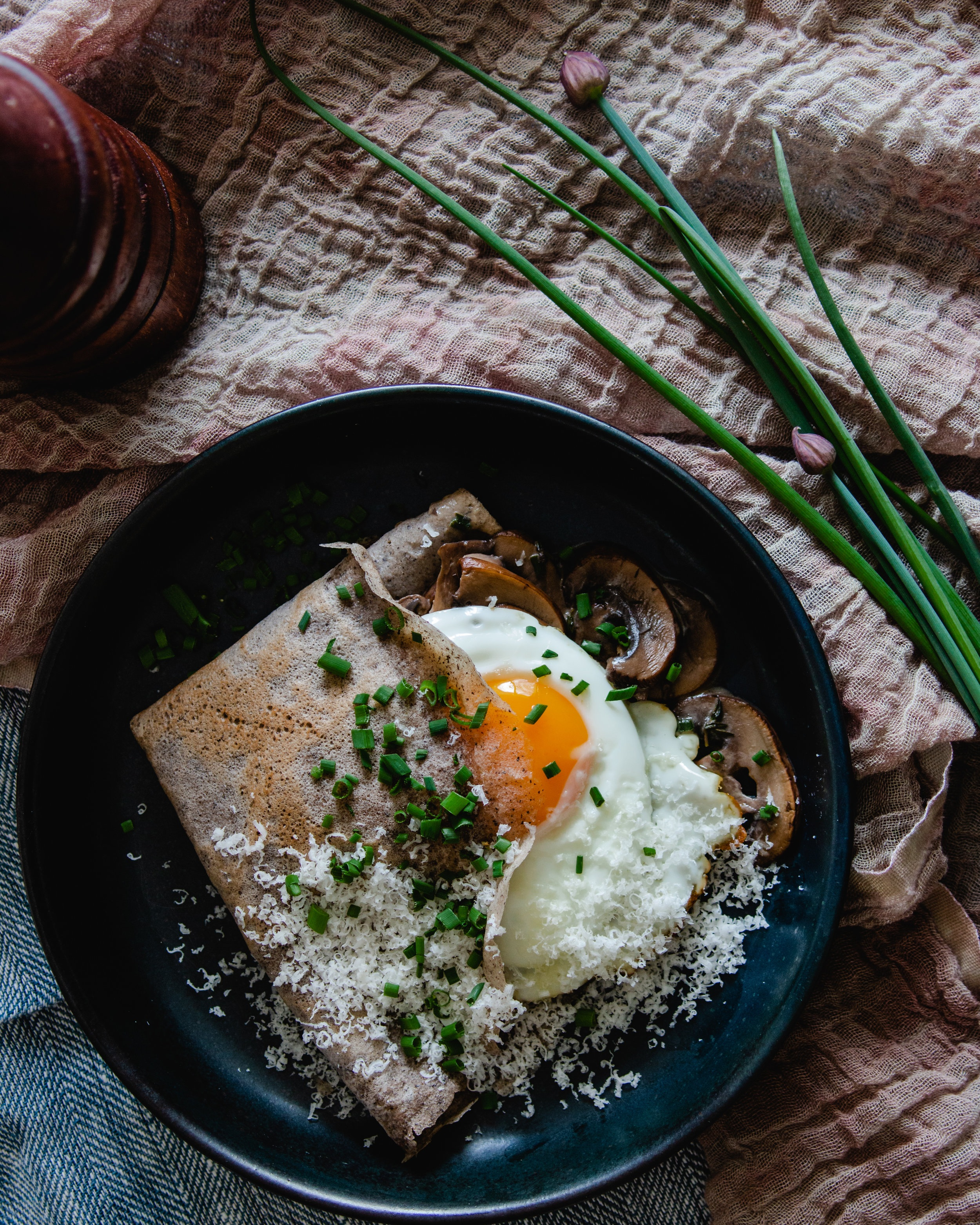 Savoury Buckwheat Crepes