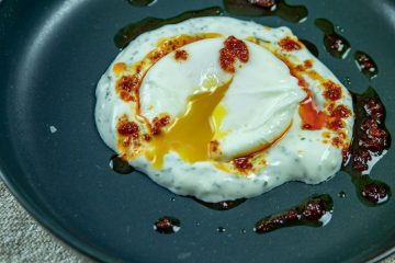 turkish eggs with runny yolks